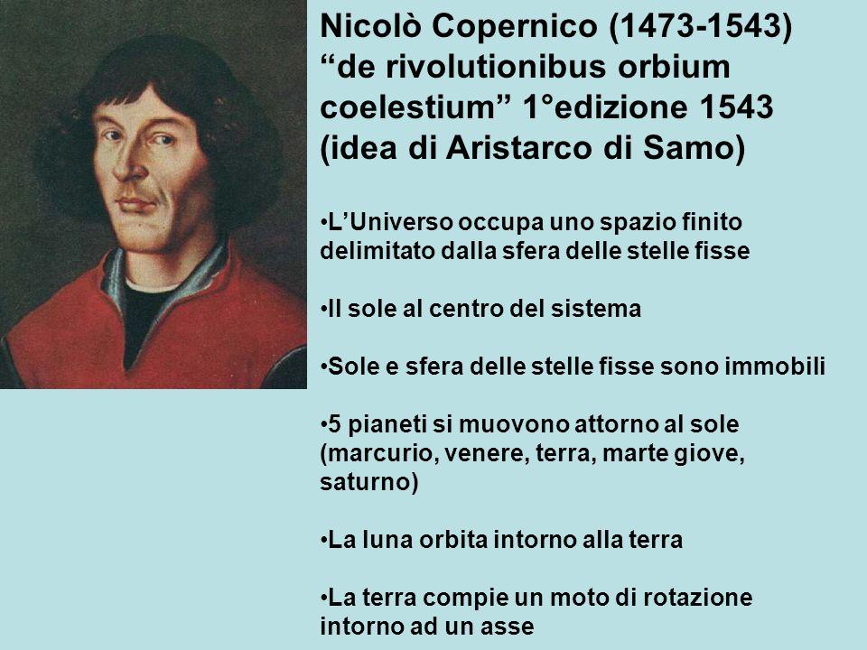Nicolò Copernico (1473-1543) de rivolutionibus orbium coelestium 1°edizione 1543 (idea di Aristarco di Samo)