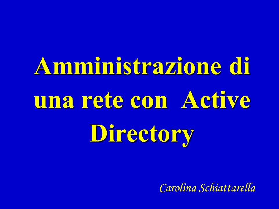 Amministrazione di una rete con Active Directory
