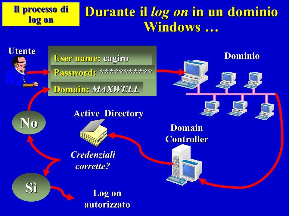 Durante il log on in un dominio Windows …