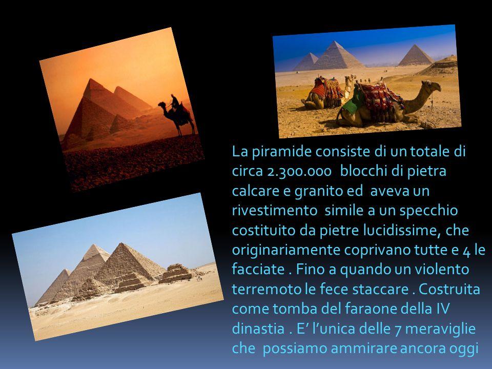 La piramide consiste di un totale di circa 2. 300