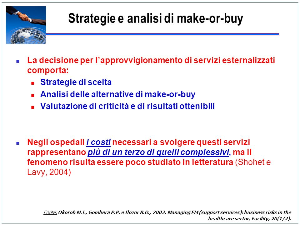 Strategie e analisi di make-or-buy