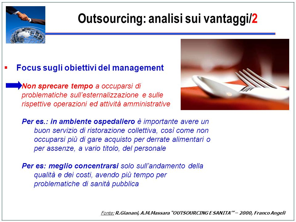 Outsourcing: analisi sui vantaggi/2