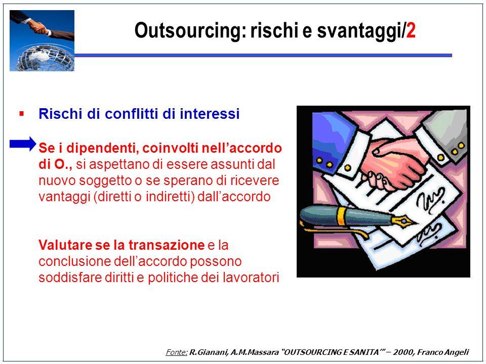 Outsourcing: rischi e svantaggi/2