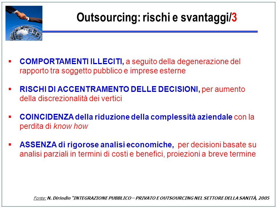 Outsourcing: rischi e svantaggi/3