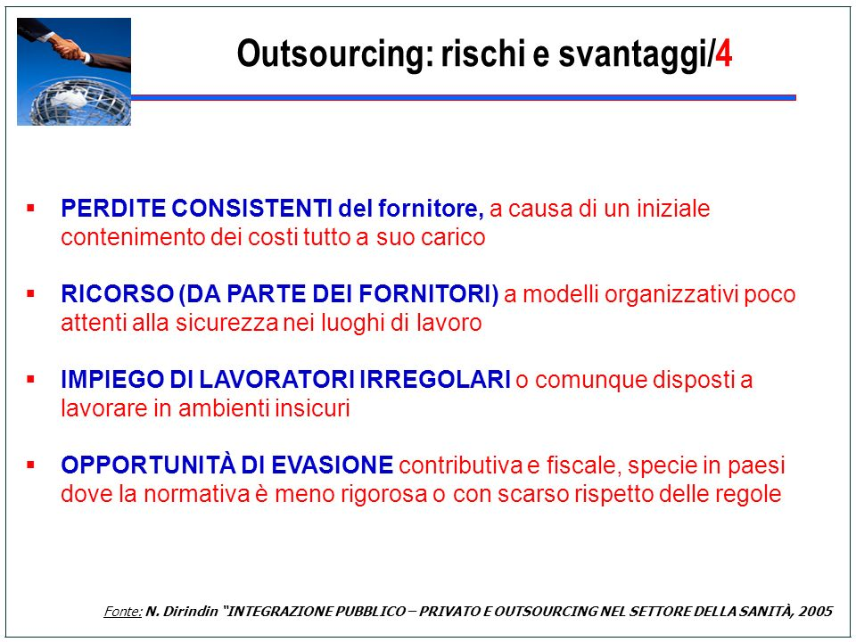 Outsourcing: rischi e svantaggi/4