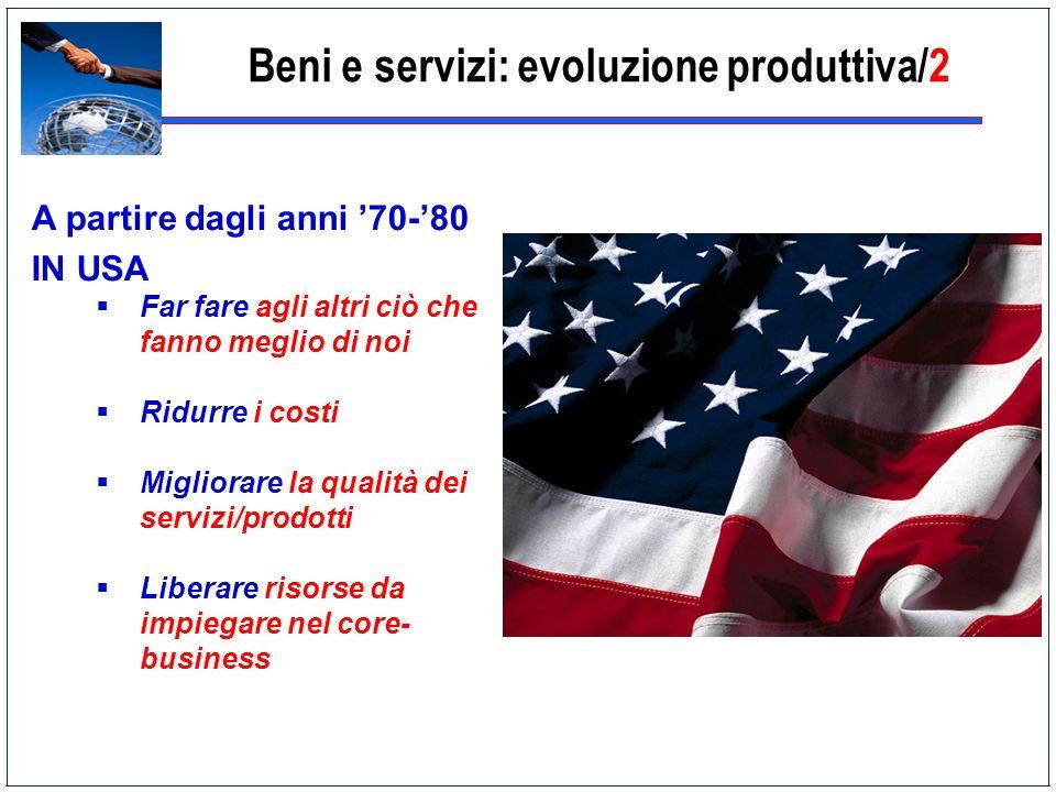 Beni e servizi: evoluzione produttiva/2