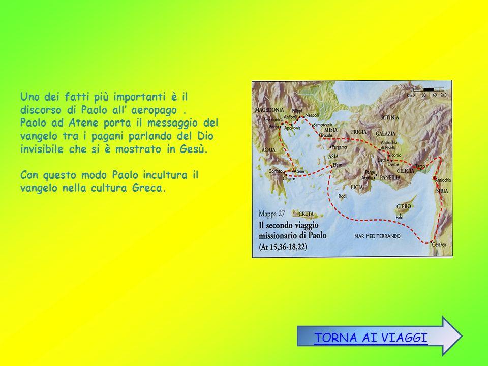 Uno dei fatti più importanti è il discorso di Paolo all' aeropago .