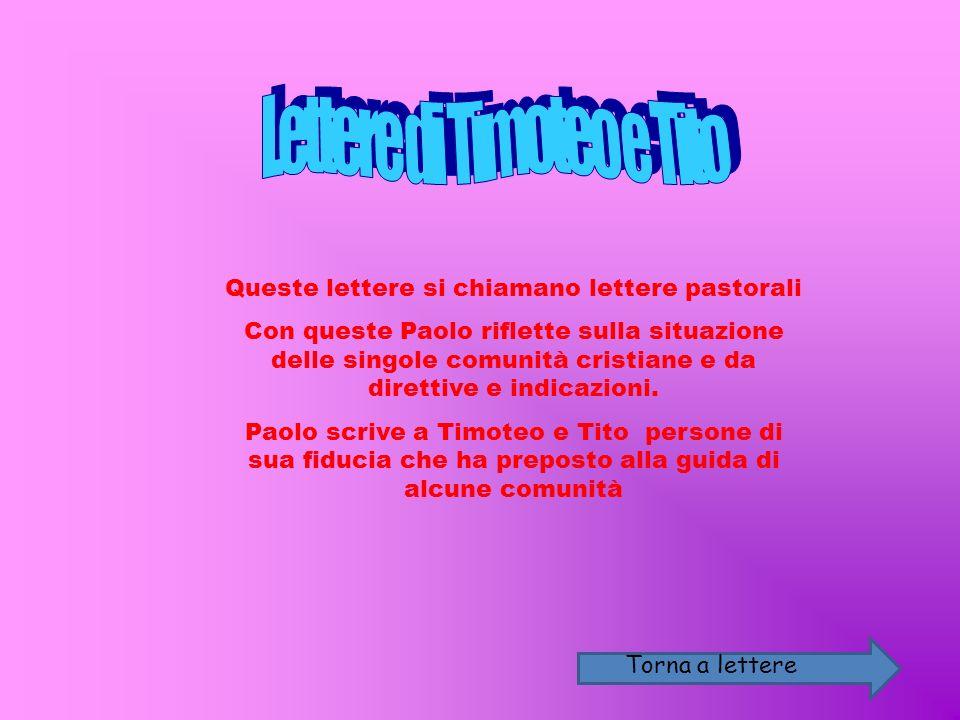 Lettere di Timoteo e Tito