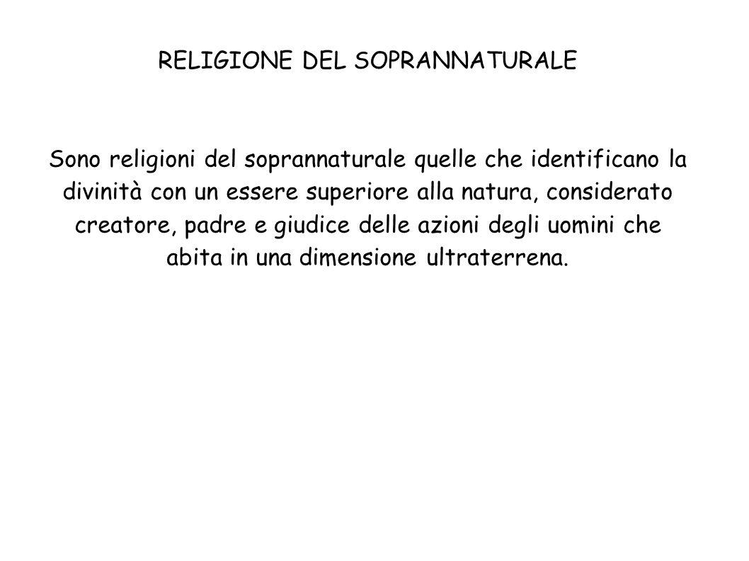 RELIGIONE DEL SOPRANNATURALE