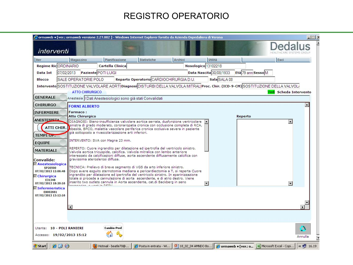 REGISTRO OPERATORIO