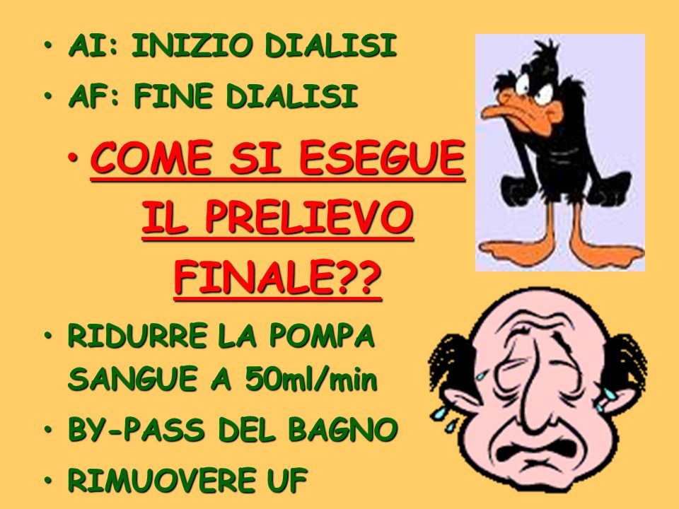 COME SI ESEGUE IL PRELIEVO FINALE