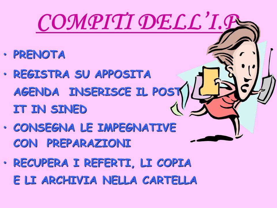 COMPITI DELL'I.P. PRENOTA