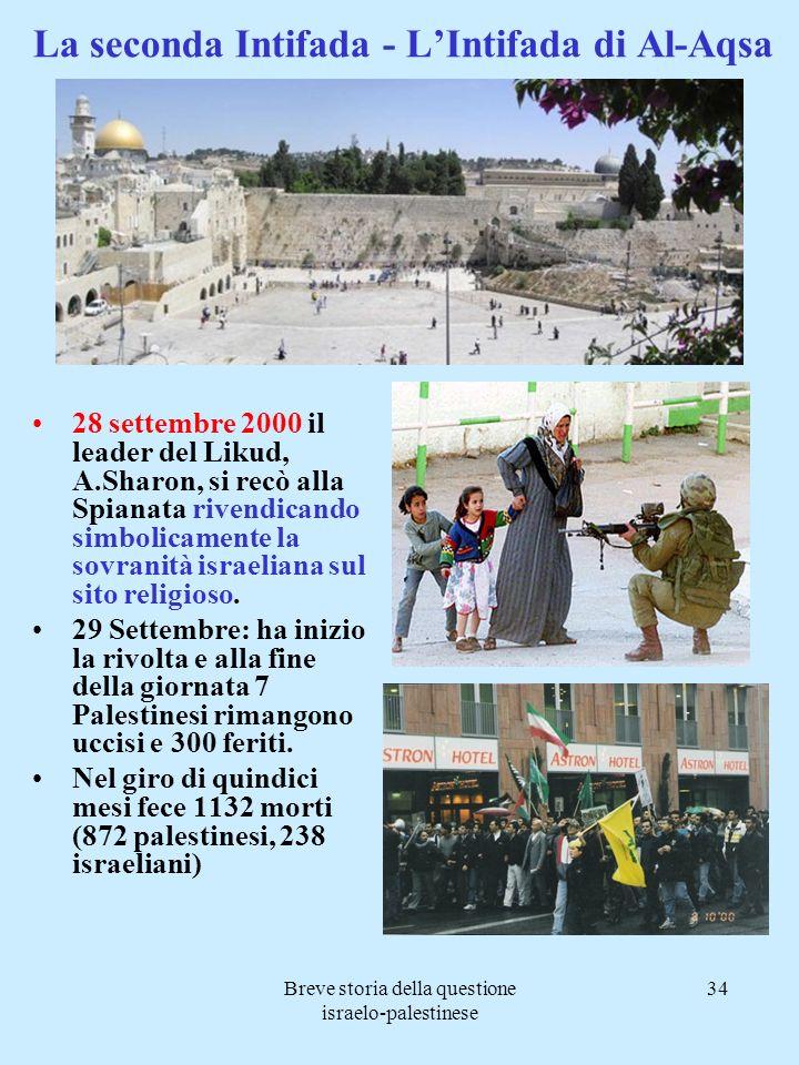 La seconda Intifada - L'Intifada di Al-Aqsa