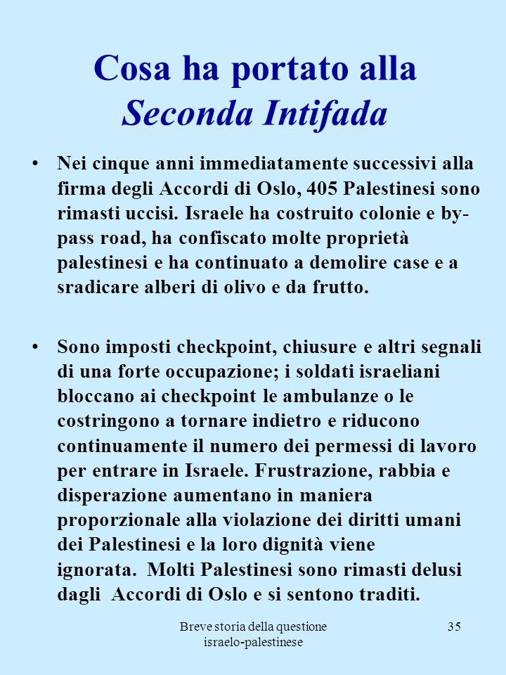 Cosa ha portato alla Seconda Intifada