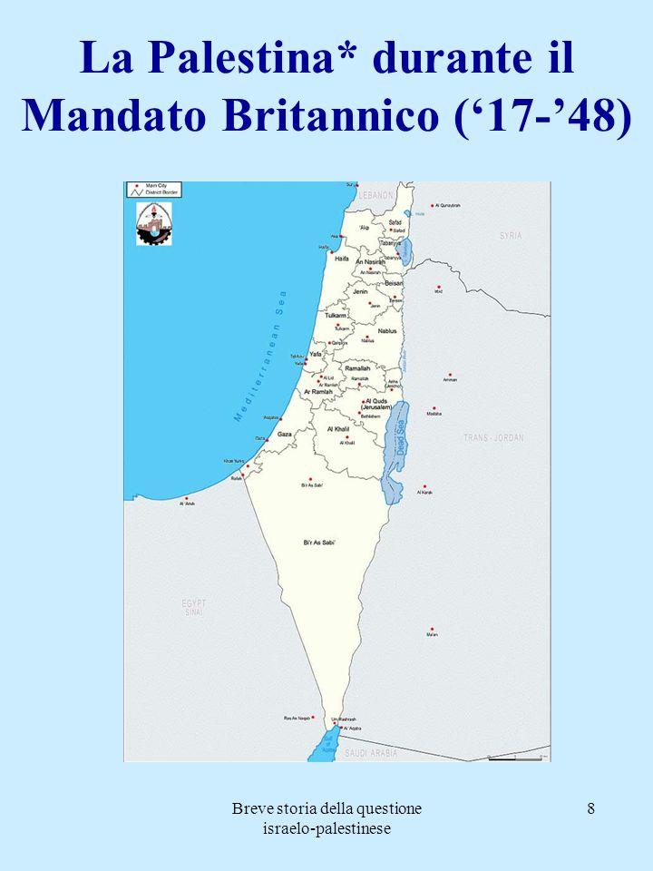 La Palestina* durante il Mandato Britannico ('17-'48)