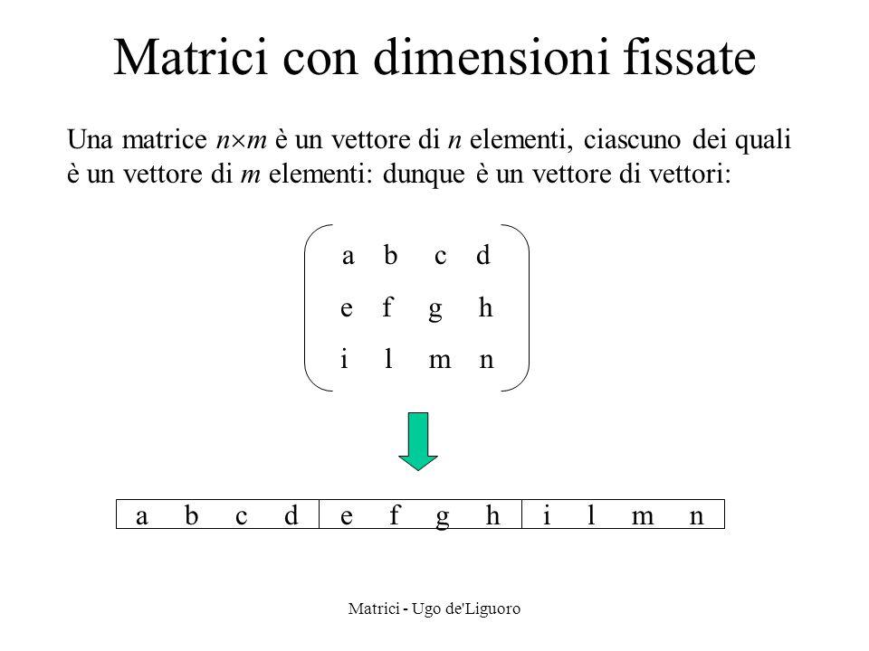Matrici con dimensioni fissate