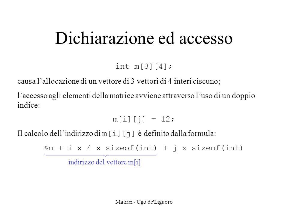 Dichiarazione ed accesso