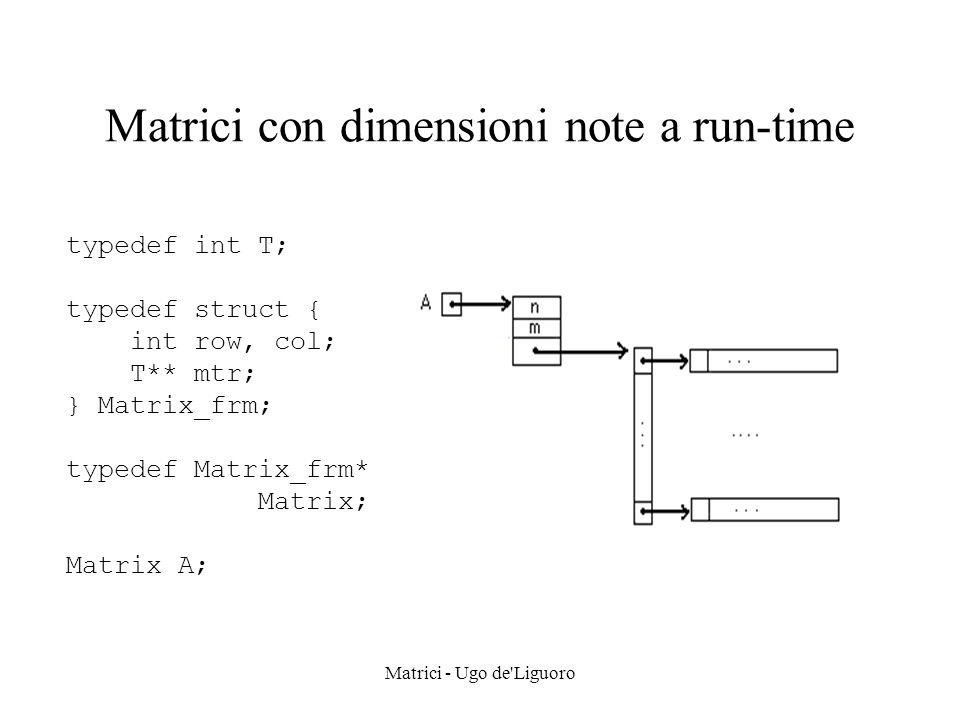 Matrici con dimensioni note a run-time
