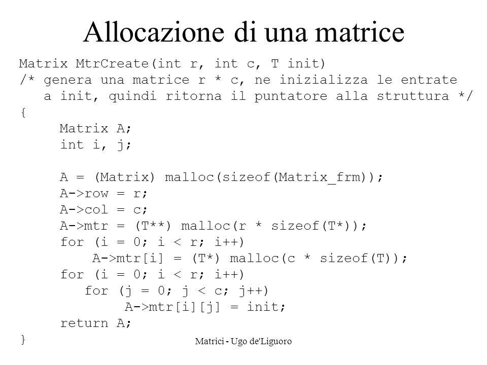 Allocazione di una matrice