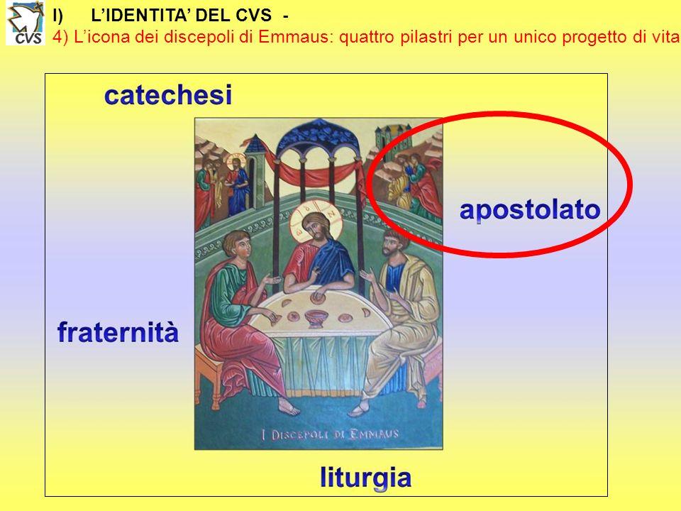 L'IDENTITA' DEL CVS - 4) L'icona dei discepoli di Emmaus: quattro pilastri per un unico progetto di vita.