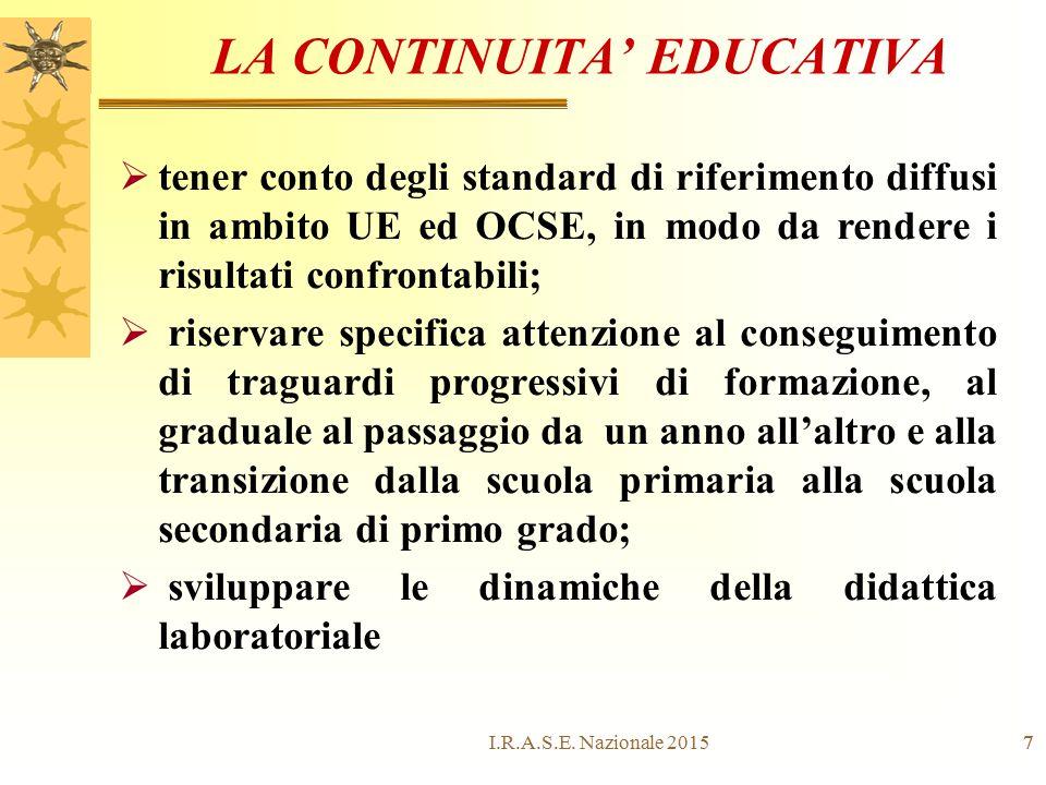 LA CONTINUITA' EDUCATIVA