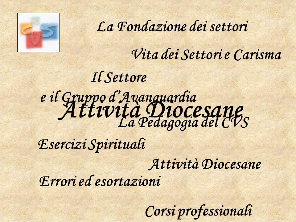 Attività Diocesane La Fondazione dei settori