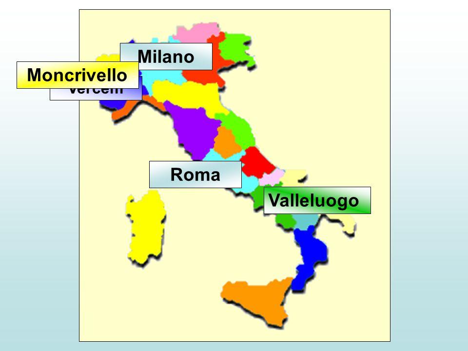 Milano Moncrivello Roma