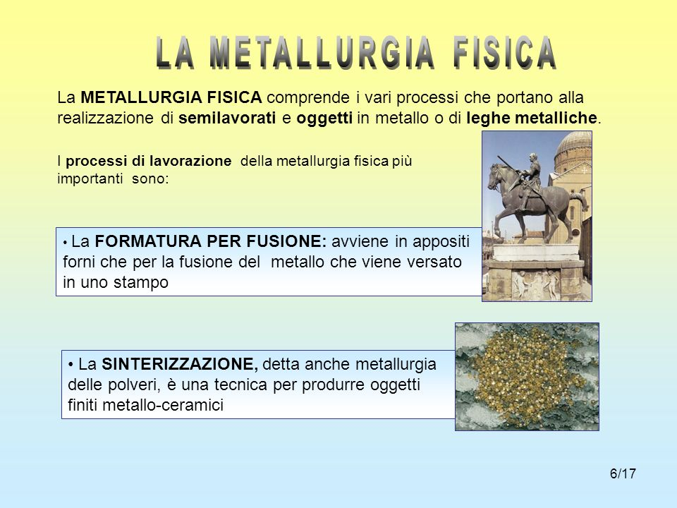 LA METALLURGIA FISICA