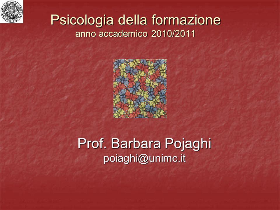 Psicologia della formazione anno accademico 2010/2011