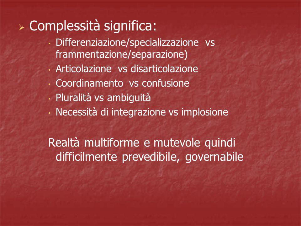Complessità significa: