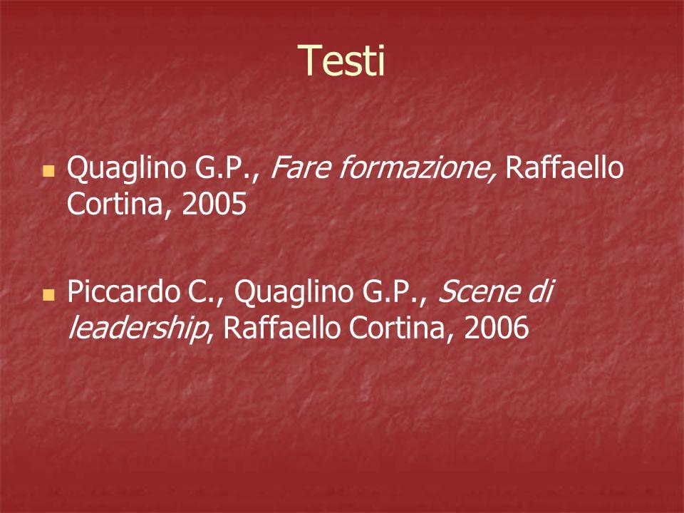 Testi Quaglino G.P., Fare formazione, Raffaello Cortina, 2005