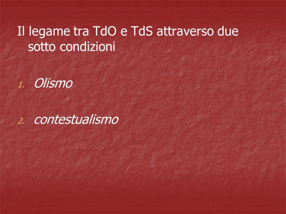 Il legame tra TdO e TdS attraverso due sotto condizioni