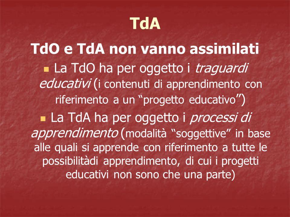 TdO e TdA non vanno assimilati