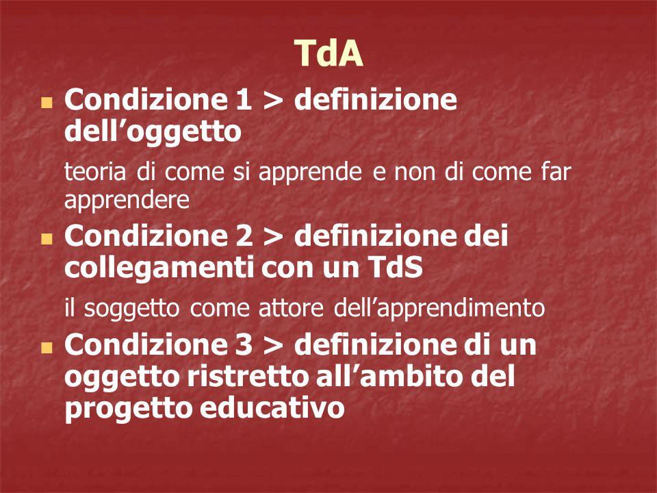 TdA Condizione 1 > definizione dell'oggetto