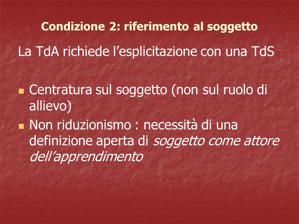 Condizione 2: riferimento al soggetto