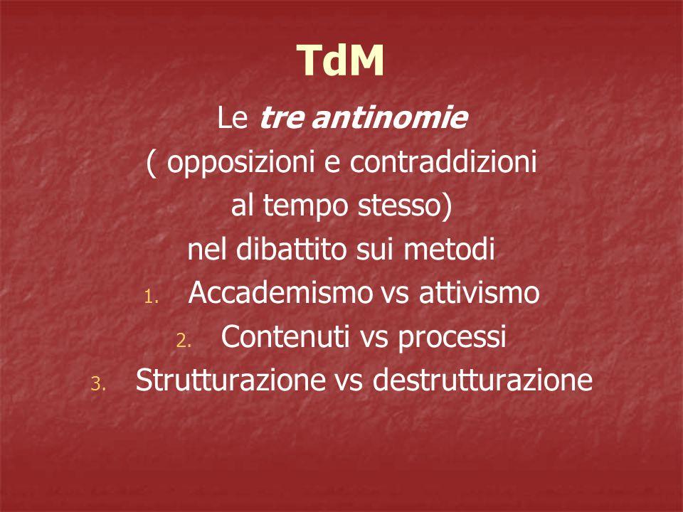 TdM Le tre antinomie ( opposizioni e contraddizioni al tempo stesso)