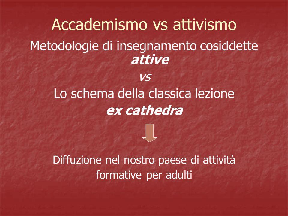 Accademismo vs attivismo