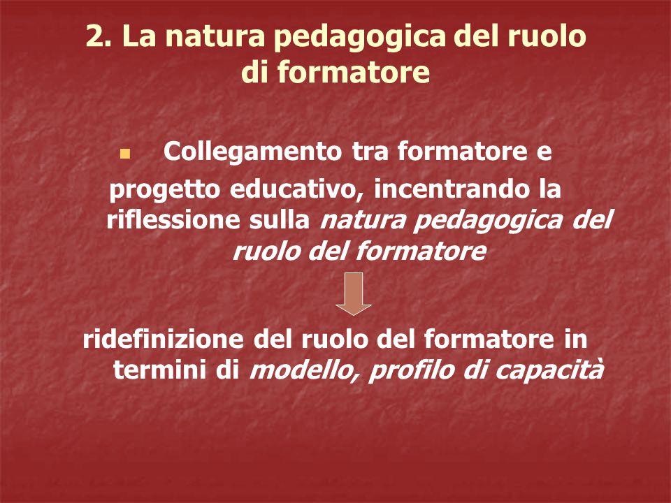 2. La natura pedagogica del ruolo di formatore