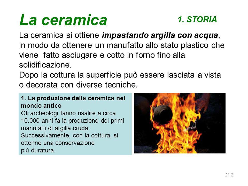 La ceramica 1. STORIA.