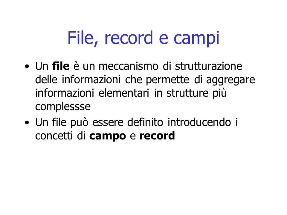 File, record e campi