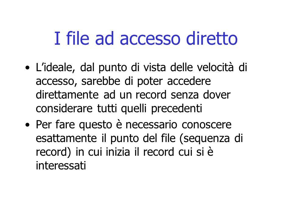 I file ad accesso diretto