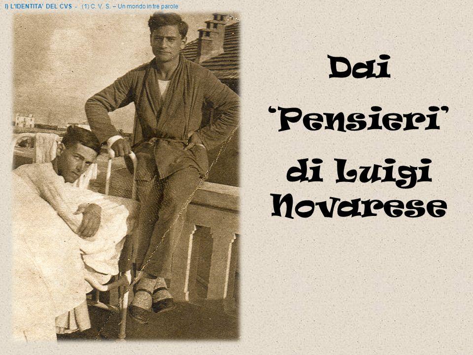 Dai 'Pensieri' di Luigi Novarese