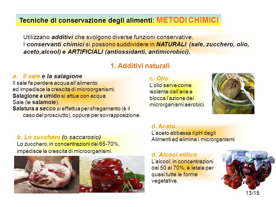 Tecniche di conservazione degli alimenti: METODI CHIMICI