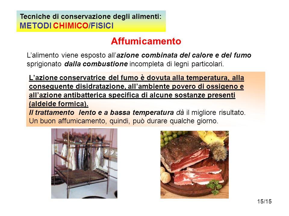 Affumicamento METODI CHIMICO/FISICI