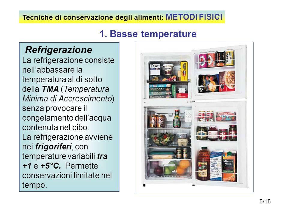 1. Basse temperature Refrigerazione