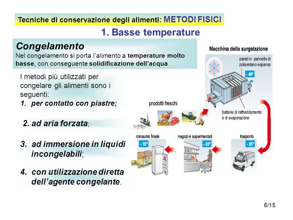 1. Basse temperature Congelamento 2. ad aria forzata;
