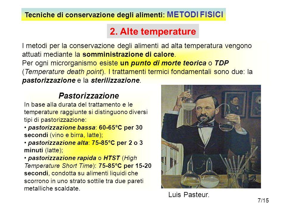 2. Alte temperature Pastorizzazione