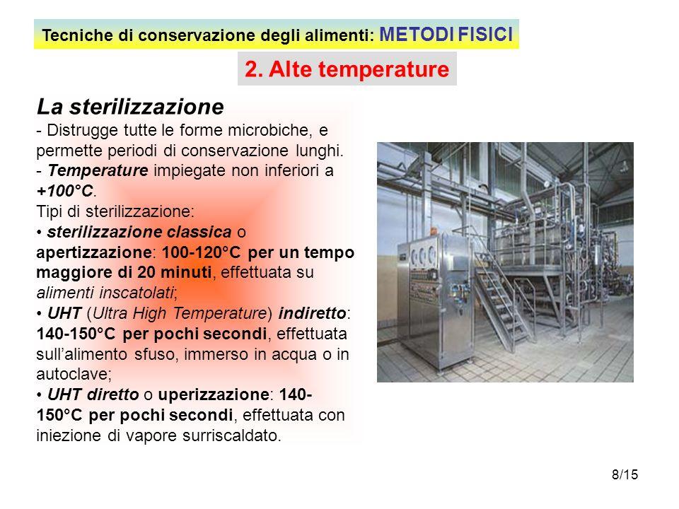 2. Alte temperature La sterilizzazione