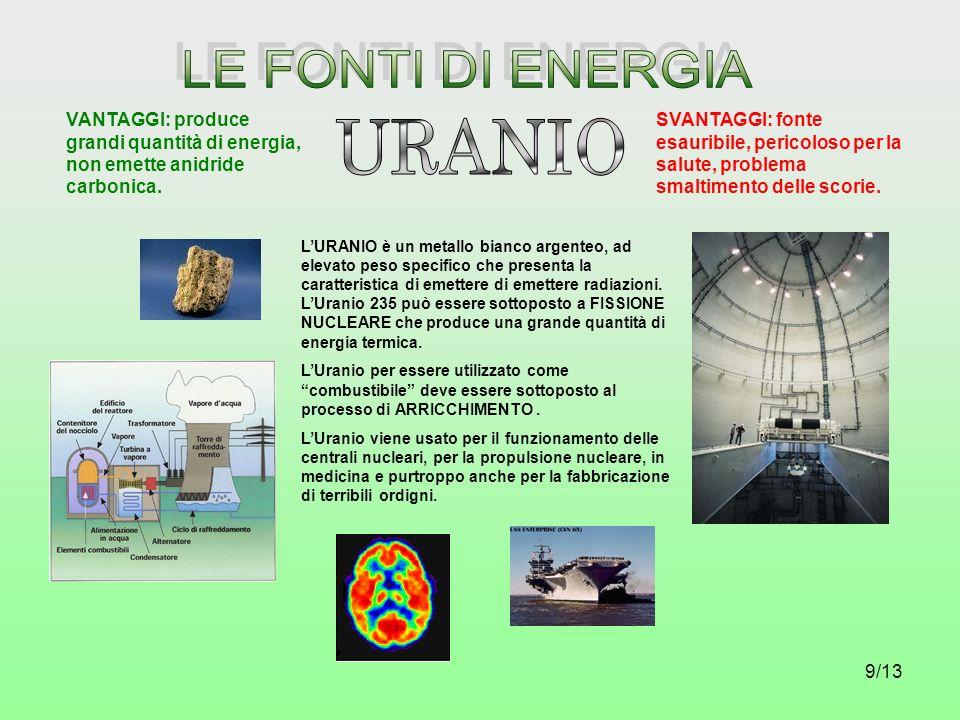 LE FONTI DI ENERGIA URANIO