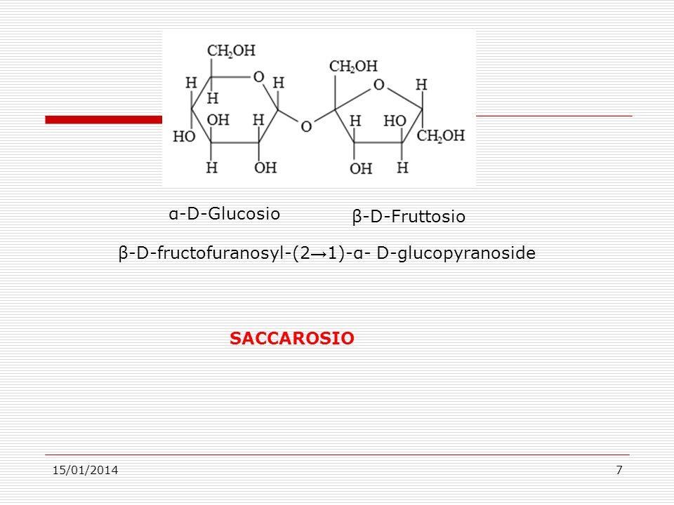β-D-fructofuranosyl-(2→1)-α- D-glucopyranoside